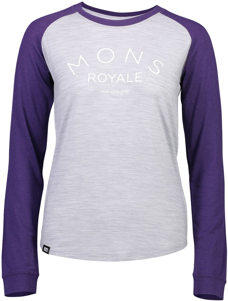 Triko Mons Royale merino VIVA LA RAGLAN grape   grey marl ... f5aa5821c1e