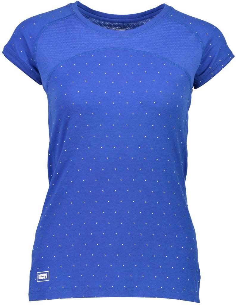 Triko Mons Royale merino BELLA TECH TEE GEO blue dot  6f8d22325a7