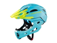 Cratoni C-Maniac blue-lime matt