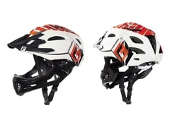 Cratoni C-Maniac white-red-black glossy